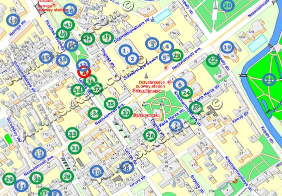 Street map Minsk Belarus
