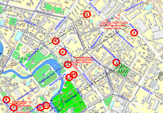 Minsk Maps With Tourist Attractions Places To Visit Minsk Video - minsk map
